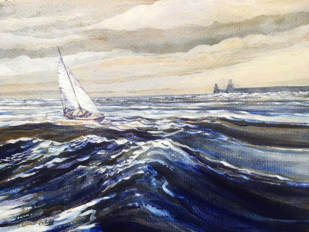 Watercolor Acrylic Beginner Easy Beach Paintings Www Galleryneed Com